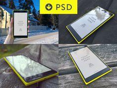 Nokia Lumia 1520 PSD Mockup