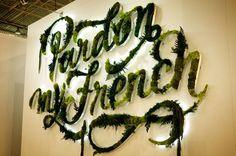 Typeverything.com Project vegetal identity #calligraphy #vegetation