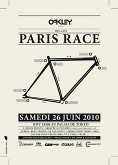 BLOG FIXÉ MAGAZINE: PARIS RACE 3, c'est parti !!!! #paris #fixie #fixed #event #gear #poster