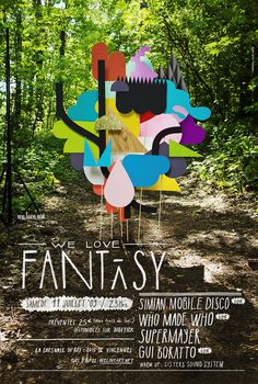 We Love Fantasy — Vallee Duhamel #duhamel #fantasy #vallee #woods #design #poster