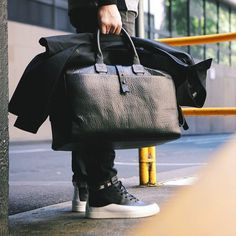 Leather Day Bag by Parabellum #bag #collection #mens #hand