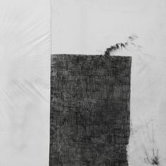 Untitled, graphite & spray paint on fabric & plastic, 60x60 cm, 2013. #white #black #karin #art #and #granstrand