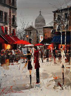 Cityscapes Paintings by Kal Gajoum #kal #cityscapes #gajoum #paintings