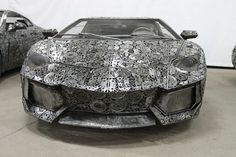 Life-Size Cars Created by Artists from Recycled Metals