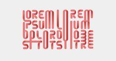 Lorem Ipsum dolore by philippe nicolas #lettering #modular #typedesign