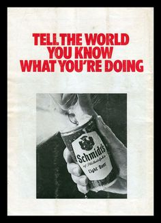 All sizes | Schmidt's Beer, 1973 | Flickr - Photo Sharing! #beer #advertisement #vintage #advertising