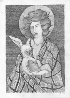 Ocho Cuervos Blog ES #white #icon #child #black #romanic #rabbit #pencil