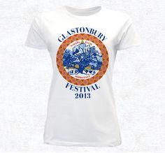 Glastonbury Festival t-shirt #festival #design #shirt #illustration #typograph #shirts