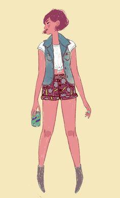 Illustrated Ladies #fashion #illustration #girl