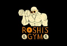 roshi's gym #drawn #hand #shirt