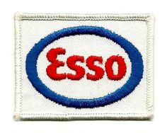 All sizes | Vintage Uniform Patch - Esso Gasoline | Flickr - Photo Sharing! #mark #logotype #red #retro #logo #esso #vintage #blue #wordmark
