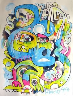 .. Wired - F C H i C H K 'L #burgerman #jon #illustration #painting #spray