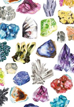 PatternBox_08 #illustration #gems #stones #painting