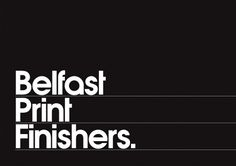 Belfast Print Finishers : Chris Killeen #logo