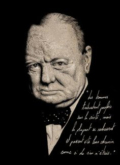 Editorial illustration #churchill #quotes #dots #winston #illustration