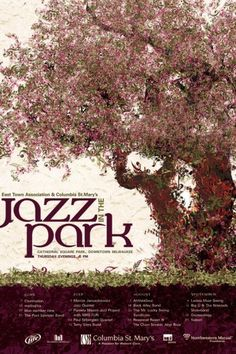 Jazz in the Park '08 by Svetlana Kluz at Coroflot #tree #print #design #graphic #poster