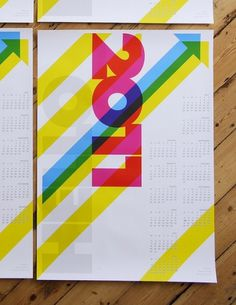 Hello 2011 Calendar / poster | Flickr - Photo Sharing! #type #calendar #overprinting #trebleseven