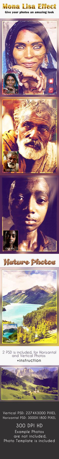 Mona Lisa Effect - Photo Template #mona #photo #effect #template #lisa