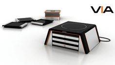 VIA Modular Cooking Unit #tech #amazing #modern #innovation #design #futuristic #gadget #ideas #craft #illustration #industrial #concept #art #cool