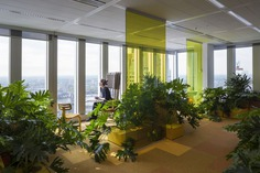 De Rotterdam interior by Studio Makkink & Bey and Group A #office #rotterdam #colourful #pixel #design #plants