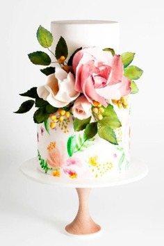 11 Amazing Wedding Cake Designers We Totally Love - floral cakes