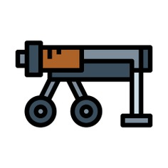 See more icon inspiration related to cannon, miscellaneous, army, military, shoot, gun, weapons, weapon, bomb and war on Flaticon.