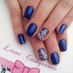 30 DARK BLUE NAIL ART DESIGNS