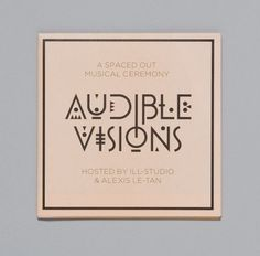 Audible Visions — Trend List #music #cover #typography