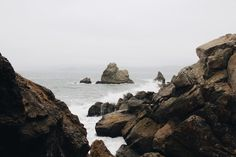 Drop Anchors #ocean #rocks #fog #landscape