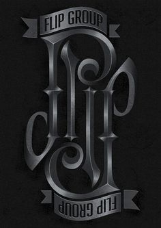Flip Group Branding Ambigram on the Behance Network #ambigram #logo #typographic #typography