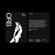 Sydney Dance Company — Orb invitation