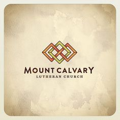 mount calvary #lutheran #icon #church #diamond #glass #intersect #logo #monostroke #stained