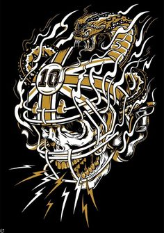 Tumblr #snake #dust #illustration #football #love #skull