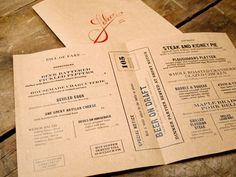 FFFFOUND! | design work life » Oat Creative: Saloon Identity #typography #branding #menu