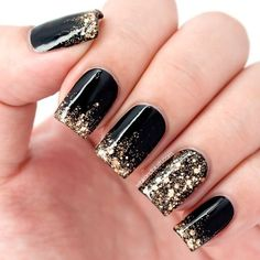 40 BLACK NAIL ART IDEAS