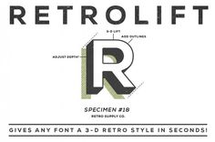 Retro lift #white #retro #black #and #typography