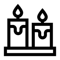 See more icon inspiration related to candle, miscellaneous, candles, flame and decoration on Flaticon.