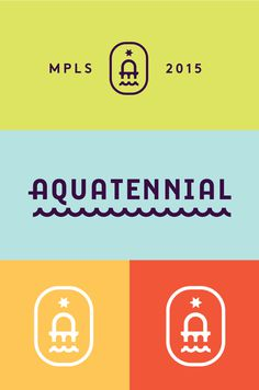 Aquatennial logo by Zeus Jones #logo #branding #colors