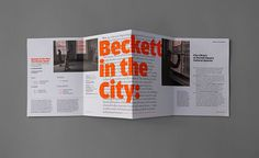 #design #graphic #typographic #layout #urbend #theatre #programme #beckett