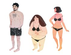swim wear #swim wear #anatomy #illustration #people