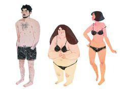 swim wear #anatomy #people #illustration #wear #swim