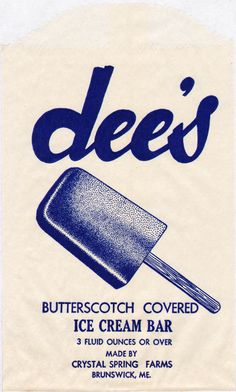 Vintage Ice Cream Bar Wrappers #vintage #packaging #ice cream