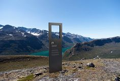 Norway's National Parks by Snøhetta #graphic design #sign
