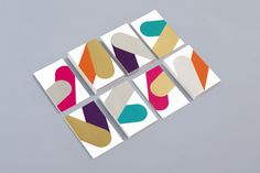 Business cards with metallic ink detail for print production studio Cerovski designed by Bunch #ff