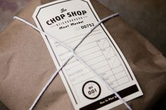 The Chop Shop packaging #labels #logos #packaging #brown #paper