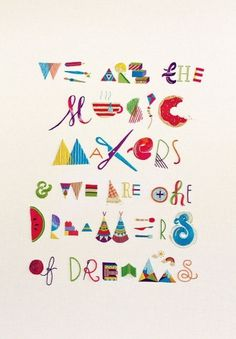 Makers, Dreamers - handmade embroidery on the Behance Network #design #poster