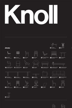 knoll #design #icons #illustration #furniture #knoll #poster