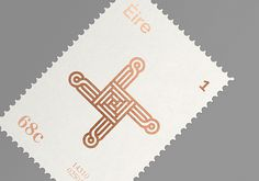 Éire Stamps on Behance #stamp #print #foil