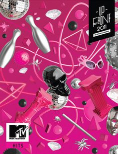 MTV Upfront #ball #pink #diamond #illustration #photography #wire #mtv #skull #colour