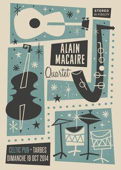 Alain Macaire Quartet - Gig Poster